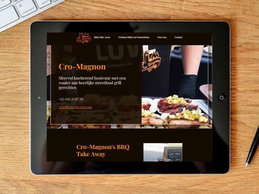 Website one-page voor Cro-Magnon