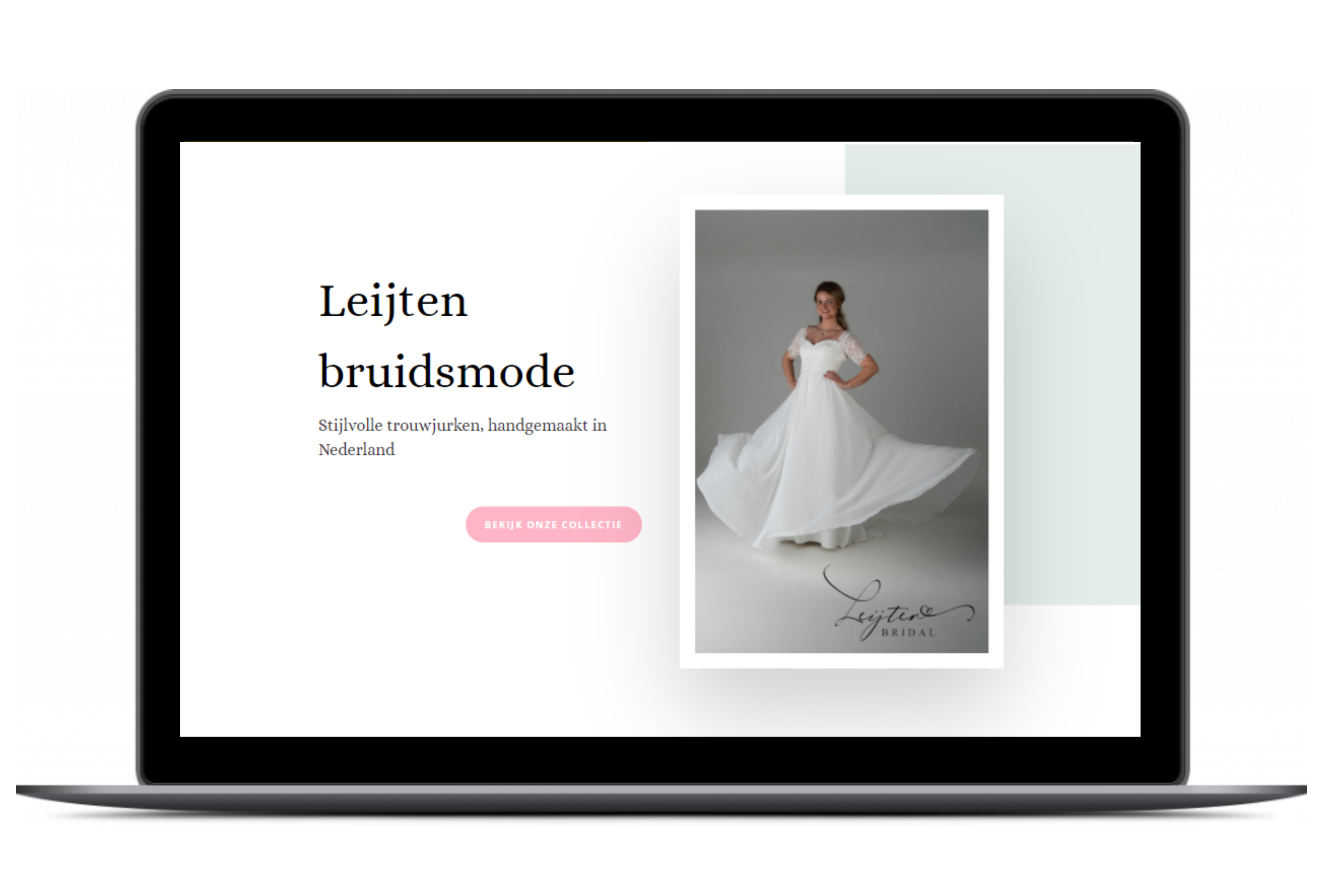 wordpress website desktop leijten bruidsmode